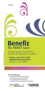 Vorankündigung: Benefiz für MiNET Saar