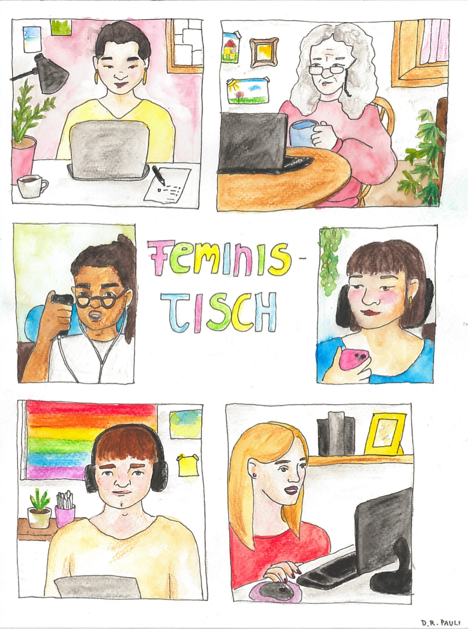 "After Work ""FeminisTisch"" (online) am Donnerstag, 15. April 2021, 18-20 Uhr"