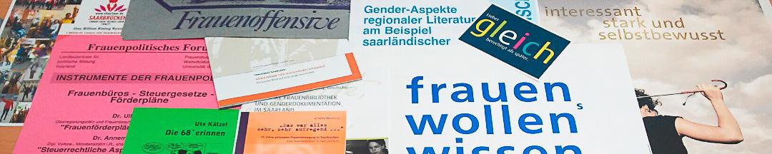 FrauenGenderBibliothek Saar Archivalien 01