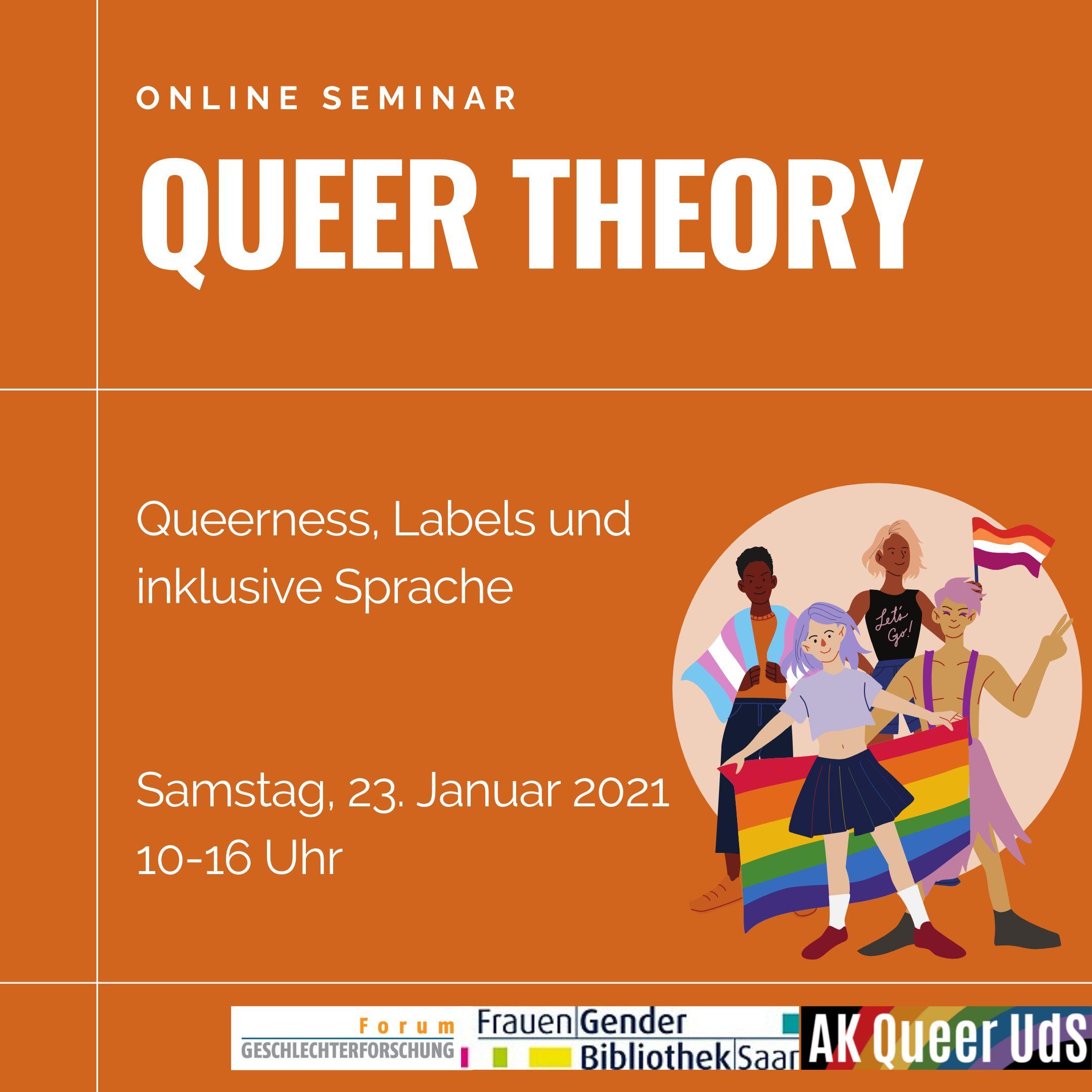 """Online-Seminar """"Einführung in die Queer Theory""""  am 23.01.2020, 10:00-16:00 Uhr"""