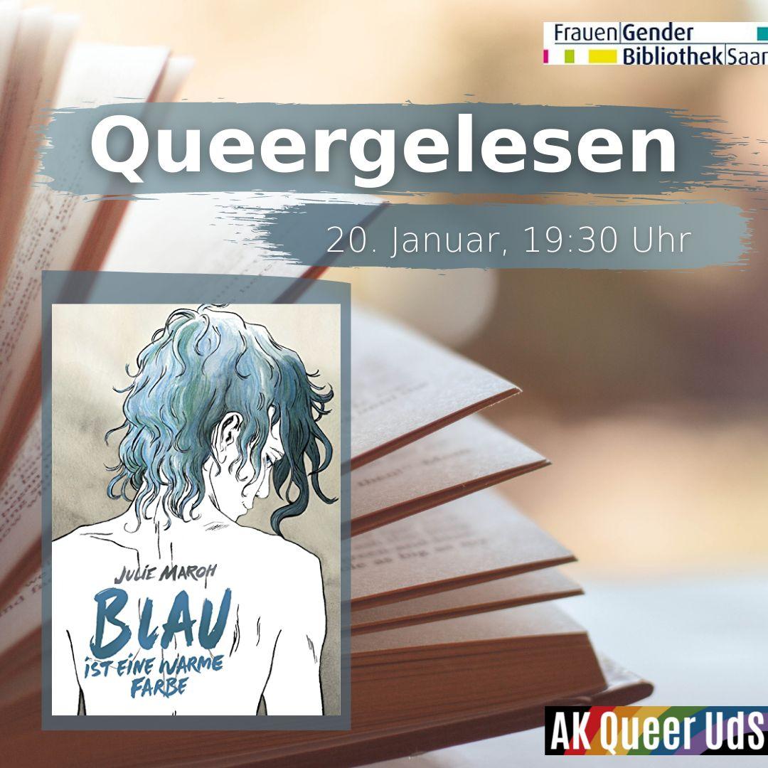 """Nächstes (Online-)Treffen von """"Queergelesen"""" am Mittwoch, 20.1.2021, um 19:30 Uhr"""
