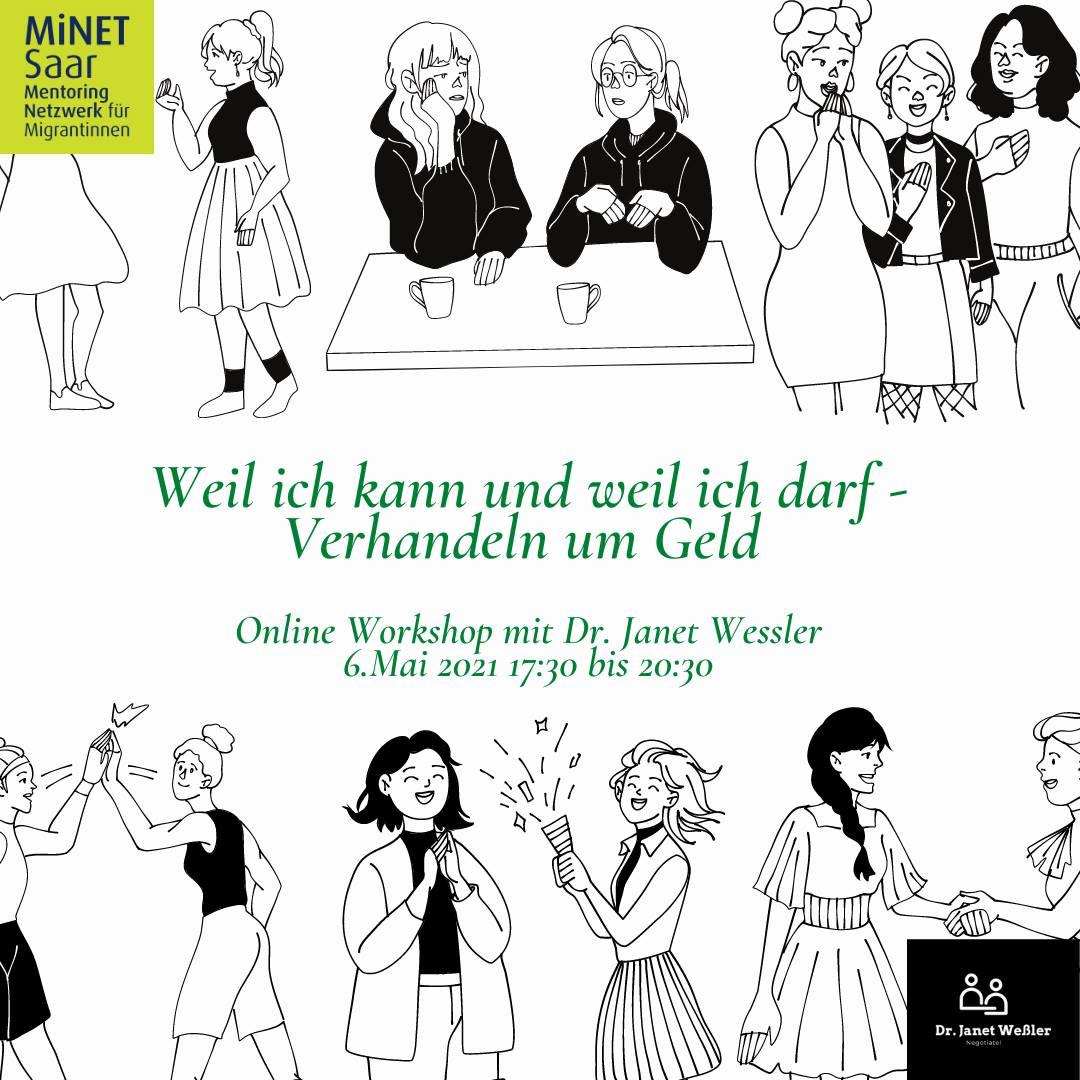 """Online-Workshop """"Verhandeln um Geld"""" am Donnerstag, 6. Mai 2021, um 17:30 Uhr"""