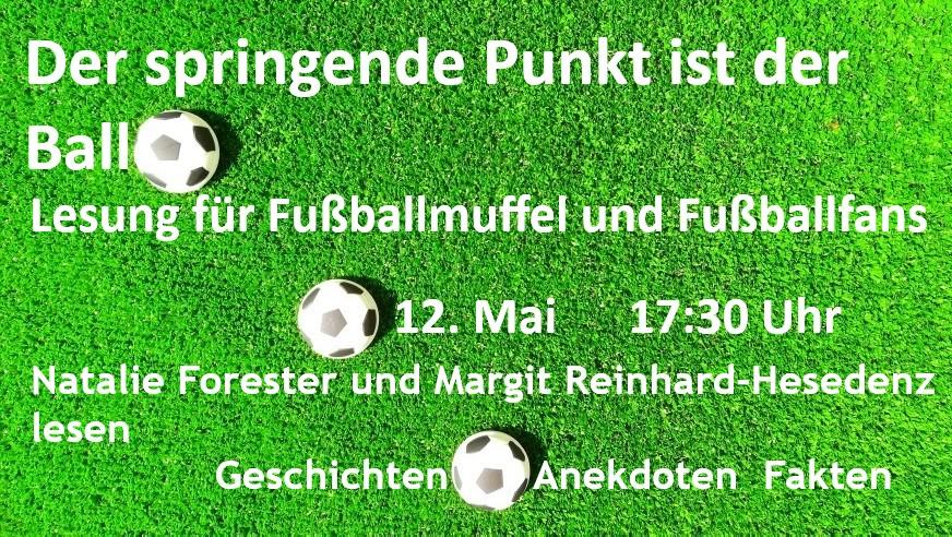"""Lesung """"Der springende Punkt ist der Ball"""" am 12.5.2021 um 17:30 Uhr"""