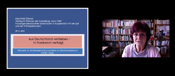 """Video-Mitschnitt des Vortrages """"Frauen in Internierungslagern 1939-1944"""" vom Donnerstag, 29.4.2021:"""