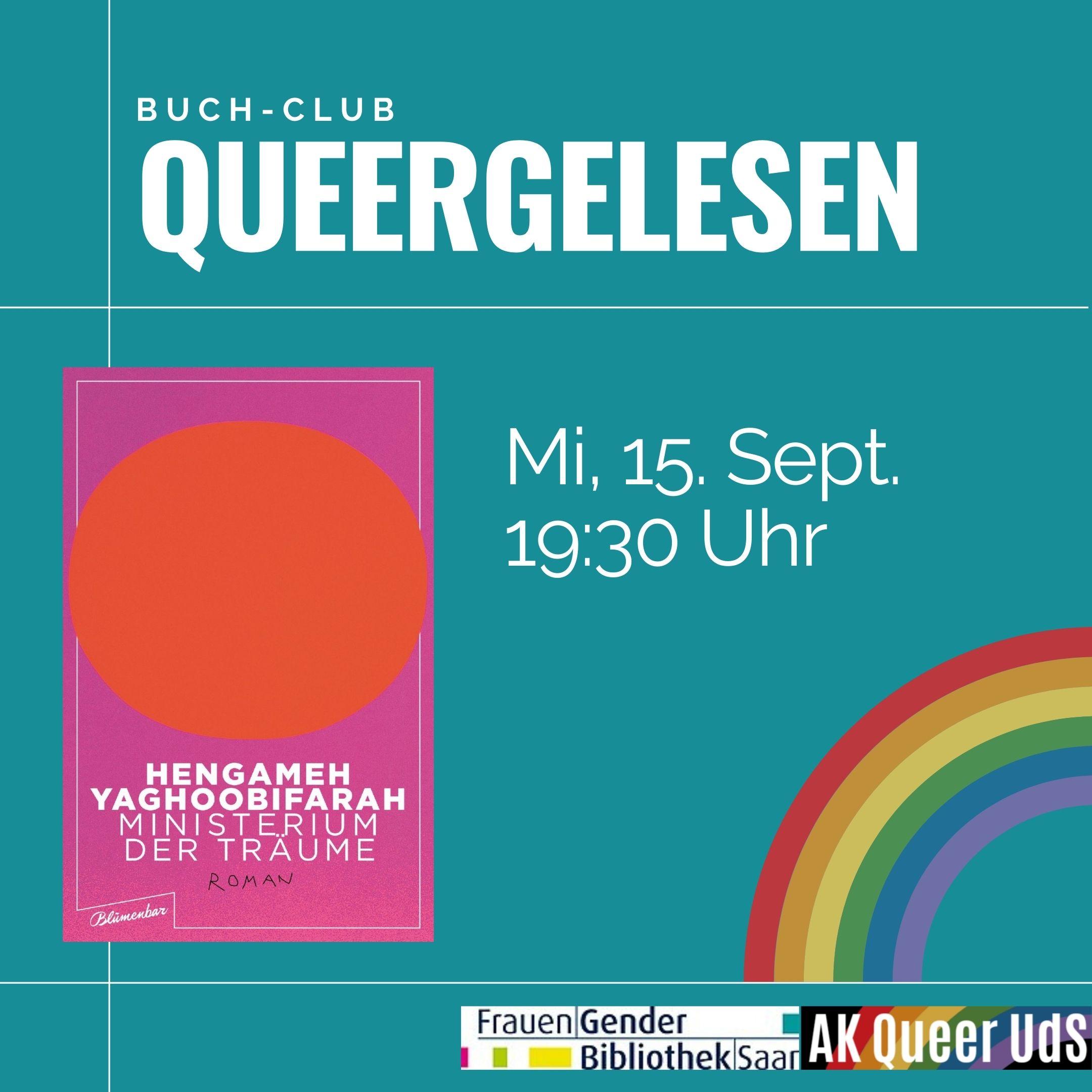 """Nächstes Treffen von """"Queergelesen"""" am Mittwoch, 15.9.2021, um 19:30 Uhr"""